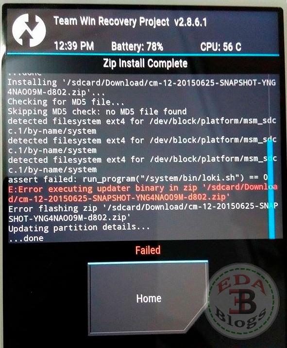 Error Executing Updater Binary In Zip Twrp Recovery