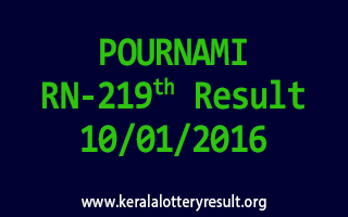 POURNAMI RN 219 Lottery Result 10-01-2016