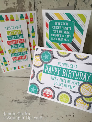 Birthday Wit stamp set - great for fun cards and teenage cards
