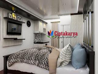 interior-studio-apartemen-kalibata-city