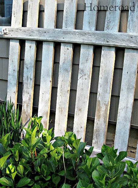 Repurposed wooden fence