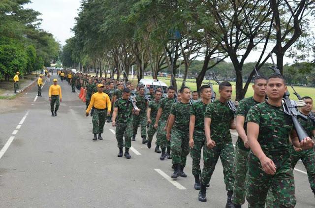 Jaga Fisik Tetap Prima, Prajurit Kodam Iskandar Muda Lari Jalan Bersama