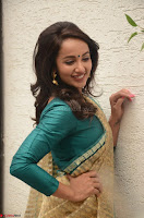 Tejaswi Madivada looks super cute in Saree at V care fund raising event COLORS ~  Exclusive 044.JPG