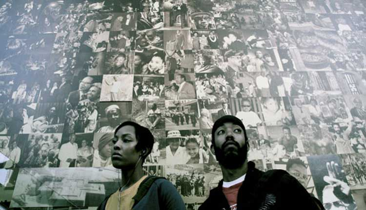 Wyatt Cenac and Tracey Heggins in Barry Jenkins' Medicine for Melancholy.