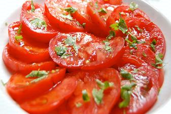 rodajas de tomate para ensalada