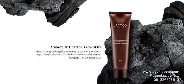 Amazonian Charcoal Glow Mask merupakan masker dari lumpur jeju yang dilengkapi dengan butiran apricot scrub, sehingga masker ini memiliki fungsi ganda sebagai masker dan scrub. Membersihkan wajah hingga ke pori, menghilangkan komedo, memperhalus tekstur kulit, dan menyerap minyak berlebih tanpa membuat kulit kering.
