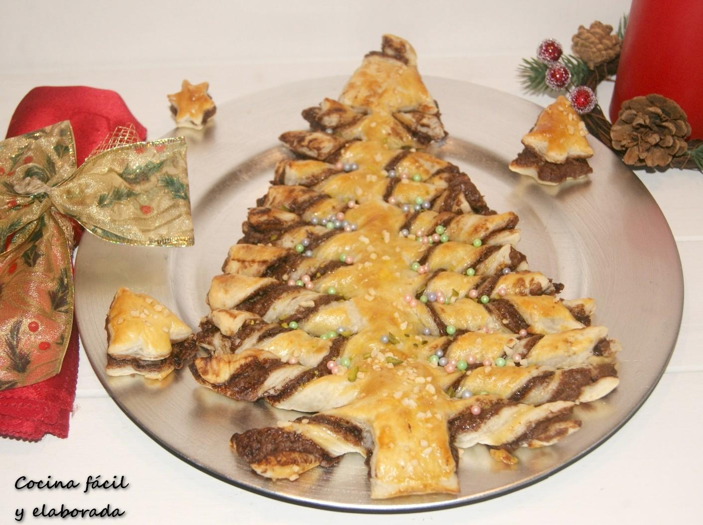 Cocina facil y elaborada arbol de nutella y hojaldre - Cocina navidad facil ...