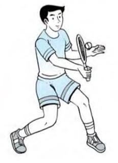 Pukulan voli permainan tenis lapangan