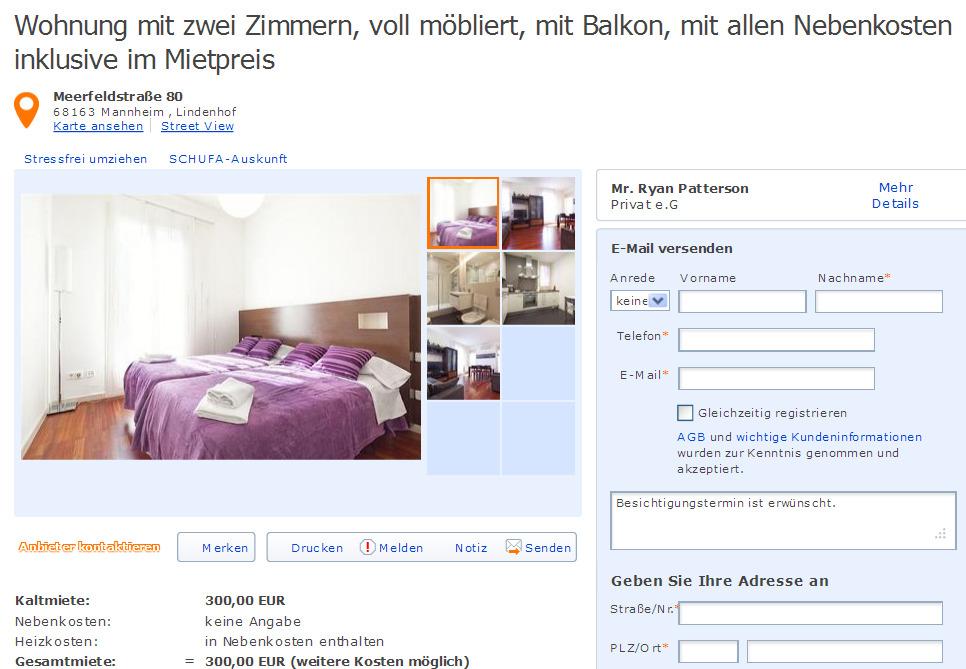 Wohnung Mit Zwei Zimmern Voll Möbliert Mit Balkon Mit