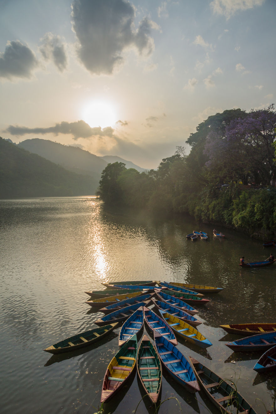 Have a beer by the peaceful Fewa lake in Pokhara in sunset - I Traveled To Nepal Before, During, And After The Earthquake, And You Should Come There In 2016