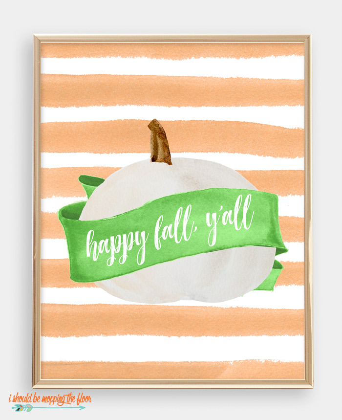 Happy Fall, Y'all Printable