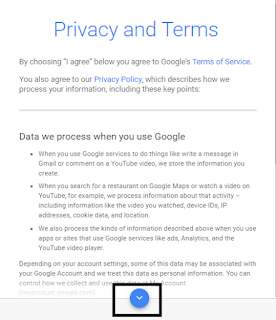 Privacy and term cara membuat email di google