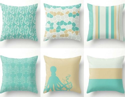 Handmade Coastal Beach Throw Pillow Covers