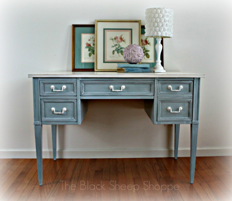 Vintage 4 drawer writing desk