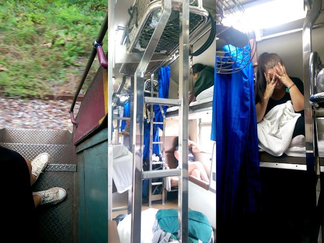Nočni vlak iz Bangkoka proti Chiang Maiu