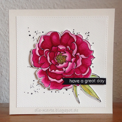 """Mondo Peony"" Julie Ebersole, ""A little Sentimental"" Clearly Besotted, ""Gorgeous Grunge"" Stampin`up"