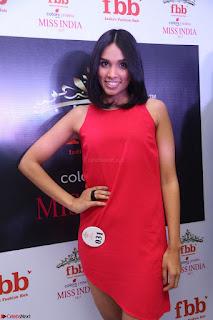 Spatika Surapaneni in Red Tight Dress at FBB Miss India 2017 finalists at Telangana auditions Feb 2017 (27).JPG