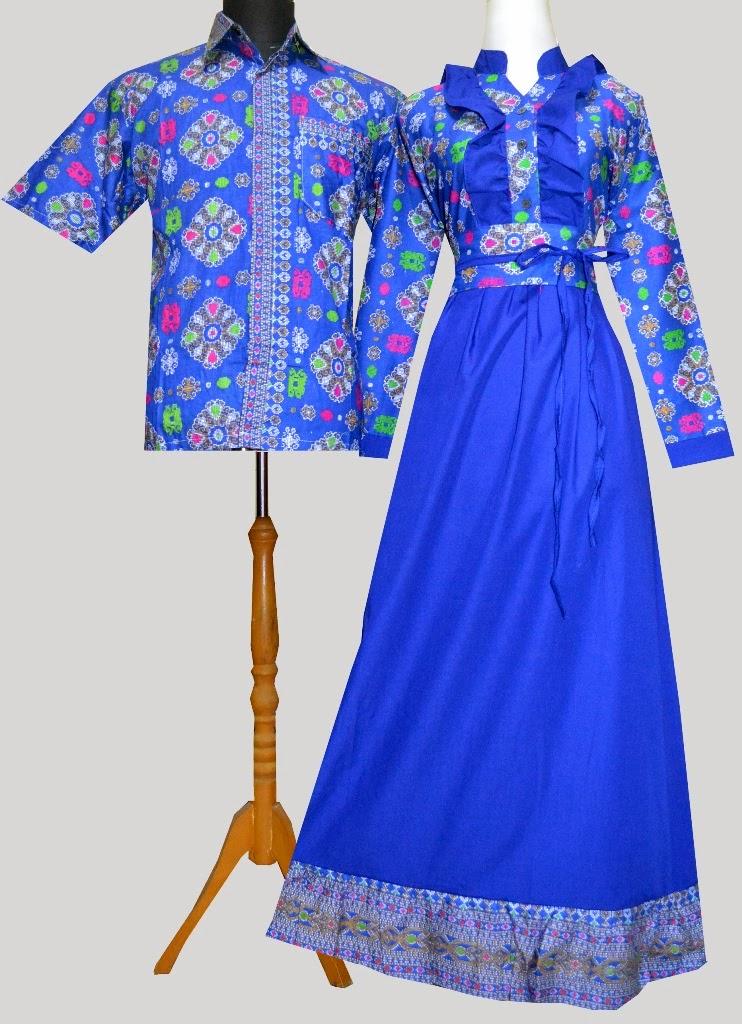 Model Baju Atasan Wanita Muslim Batik Bahan Sifon Modis