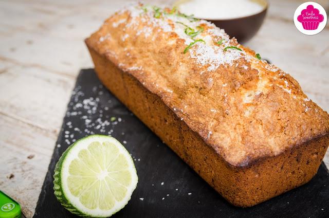 Cake noix de coco et citron vert - recette