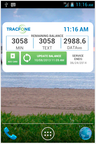 check airtime on tracfone android