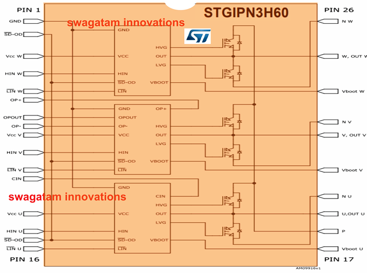Compact 3-phase Igbt Driver Ic Stgipn3h60