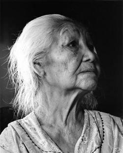 Old native american woman