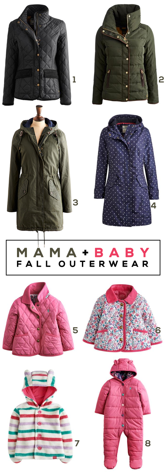 Fall Favorites: Mama + Baby Outerwear // Bubby and Bean