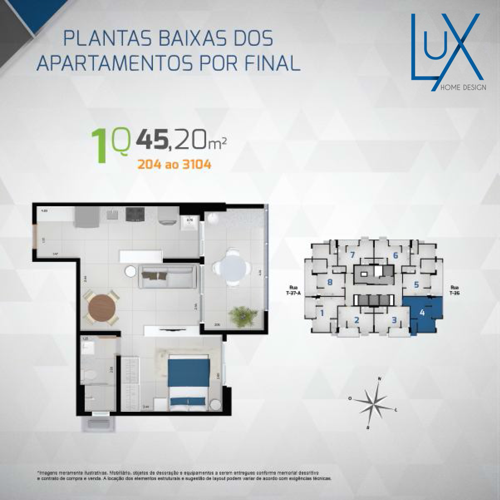 Disponibilidade Lux Home Design