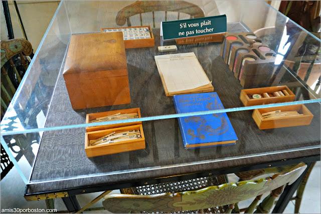 Mesa de Juegos del Invernadero de la Biblioteca de la Mansión The Elms en Newport