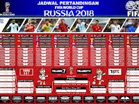 Jadwal Piala Dunia 2018 Rusia Hasil Klasemen Lengkap Live TV