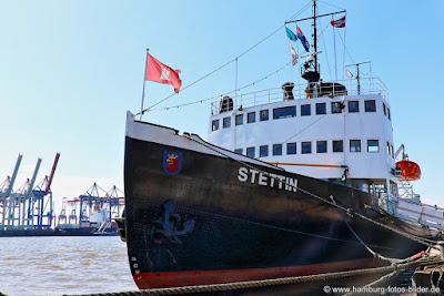 Hamburg Eisbrecher Stettin, historisches Dampfschiff in Hamburg