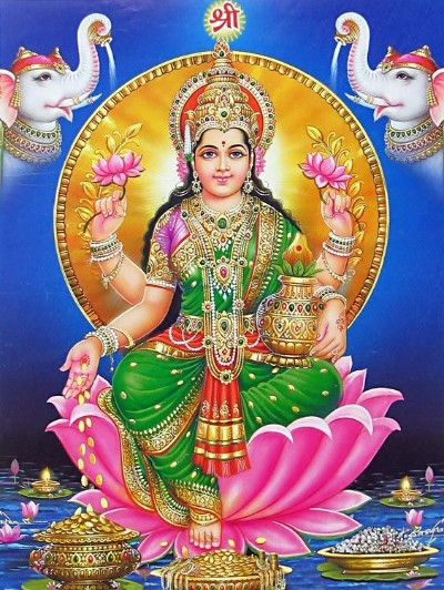 lakshmi mata the goddess of wealth picture