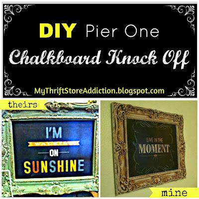 Pier One chalkboard knock off