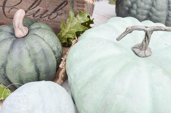 DIY Dry Brushed Chalk Paint Pumpkins {Pumpkin Palooza}  |  www.andersonandgrant.com