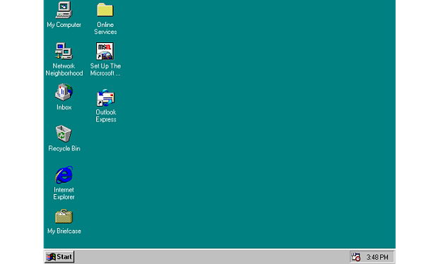 Tampilan Windows 95