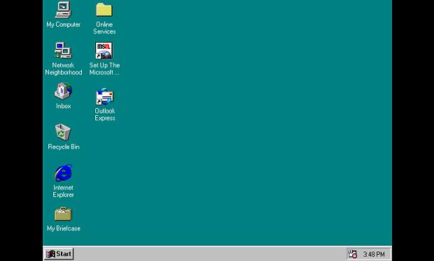 Tampilan Windows 95