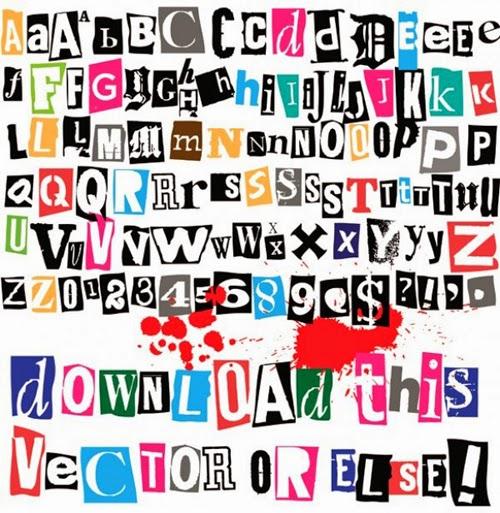 Cutout Vector Alphabet