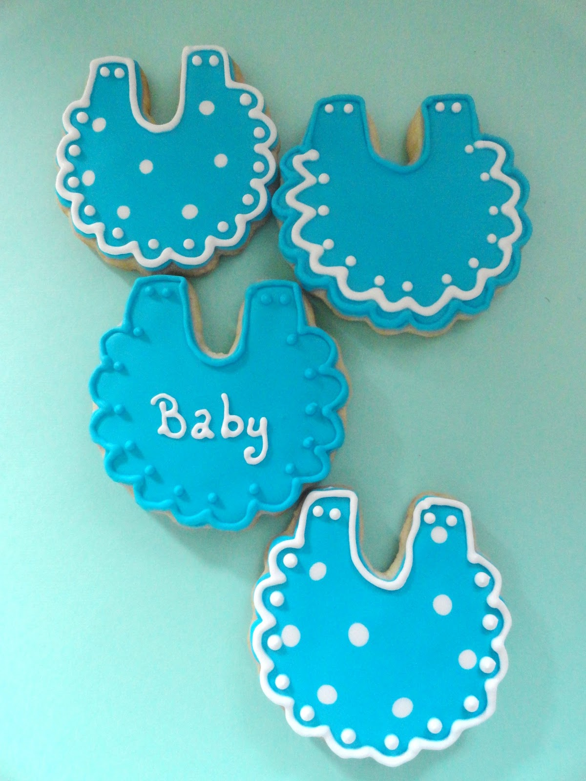 Baby Blue And Grey Bedroom: My Pink Little Cake: Blue And White Baby Boy Cookie Favors