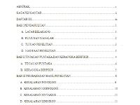 Contoh Daftar Isi Makalah Yang Baik
