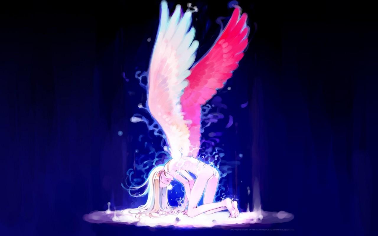 Beautiful Anime Girl Wallpaper Anime Angel Girl With Brown Hair See To World