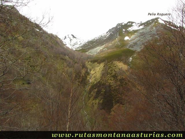 Peña Roguero y Cascada Ruxidora en Cangas del Narcea