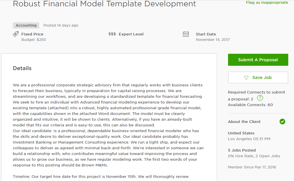Elegant MS Excel Cover Letter Sample For Upwork And Other Freelancing Marketplace