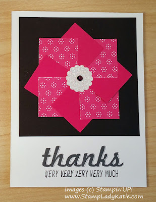 Pinwheel Card made with Designer Series Papers