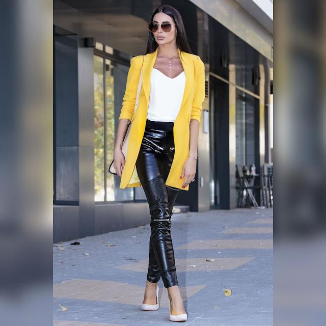 Γυναικείο κίτρινο σακάκι ROBERTINA YELLOW