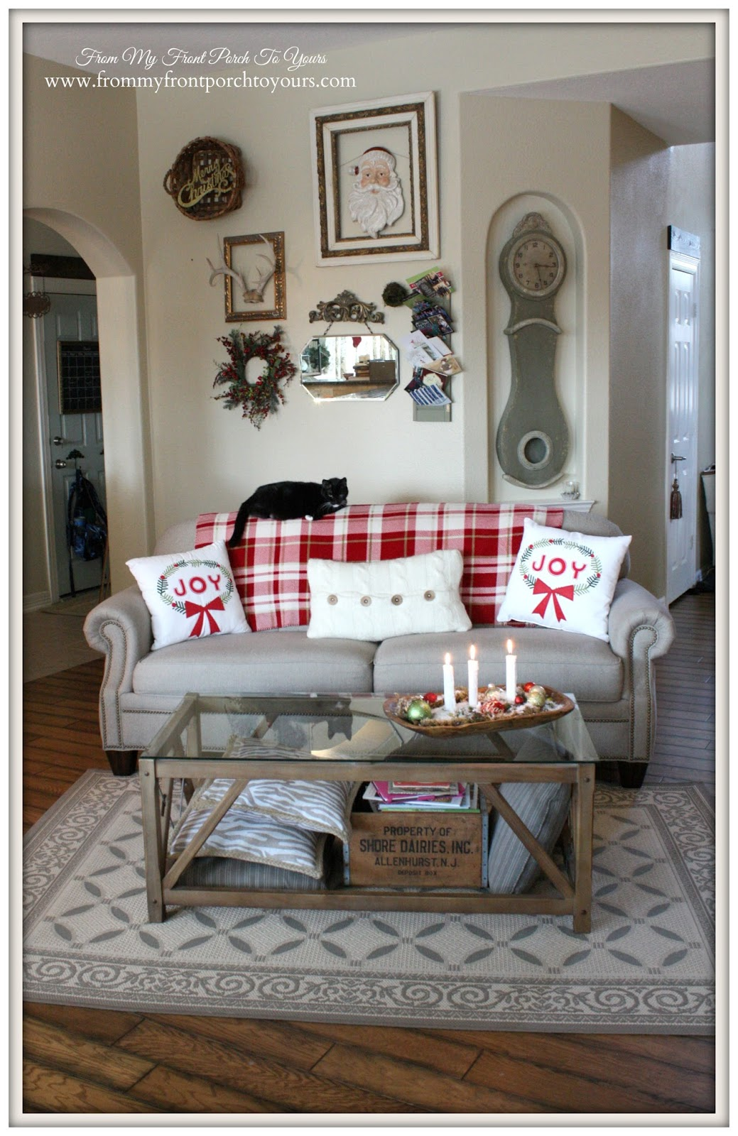 Farmhouse -Vintage- Christmas- Living Room- Vignettes-From My Front Porch To Yours