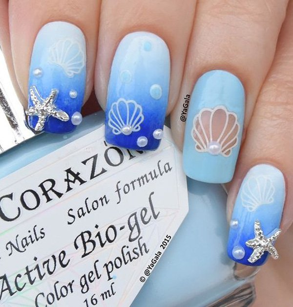 7 OCEAN NAIL ART IDEAS - 7 OCEAN NAIL ART IDEAS - Non Stop Fashions