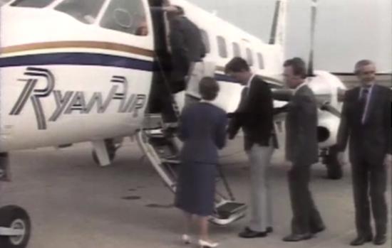 Ryanair inaugural flight video 1985