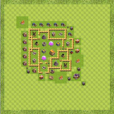 War Base Town Hall Level 6 By Soma Sinha (Home TH 6 Layout)