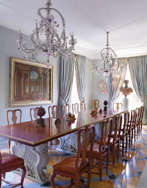 Murano Glass Chandeliers and Marble Floor | Paola Santarelli's home in Rome Photographs by Henry Bourne