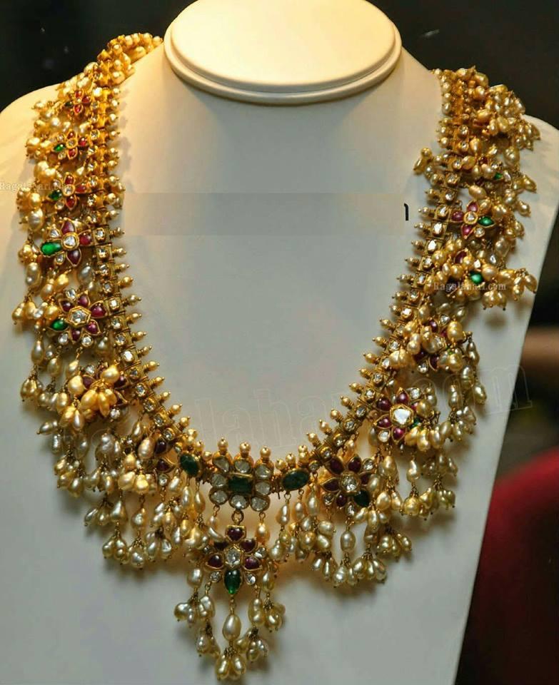 gutta pusala necklace and haram sets collection sudhakar